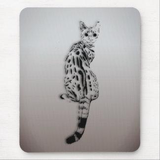 Savannah Cat Caught by Surprise Mouse Pad