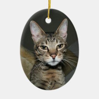 Savannah Cat Ceramic Ornament