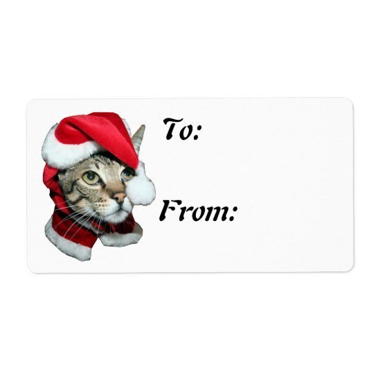 Savannah Cat Christmas Tag To From
