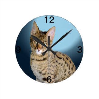 Savannah Cat Clocks