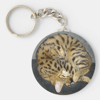 Savannah Cat Keychain