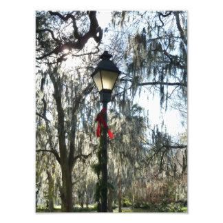 Savannah Christmas Photo Print Light Pole