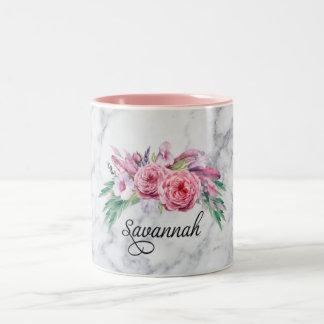 Savannah Floral Marble Mug