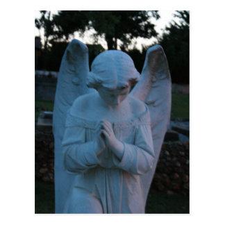 Savannah GA Angel statue in cemetary Postcard