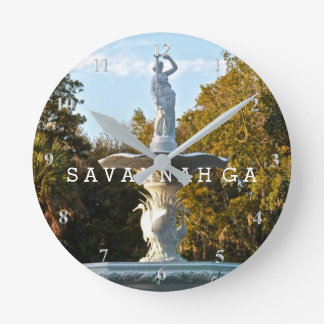 Savannah GA | Forsyth Park Fountain Spring Day Clocks