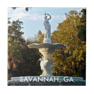 Savannah GA Georgia | Forsyth Park Fountain Tile