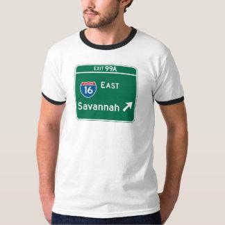 Savannah, GA Road Sign T-Shirt