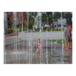 Savannah, Georgia - Ellis Square Post Card