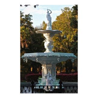 Savannah Georgia | Forsyth Park Fountain Stationery Paper