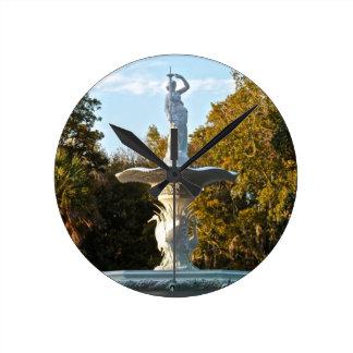 Savannah Georgia Forsyth Park Fountain Wall Clocks