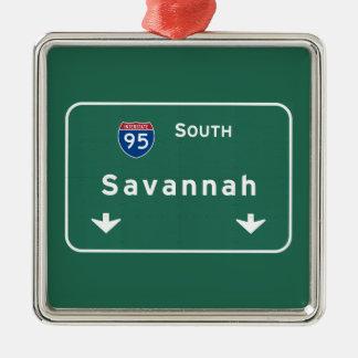 Savannah Georgia ga Interstate Highway Freeway : Metal Ornament