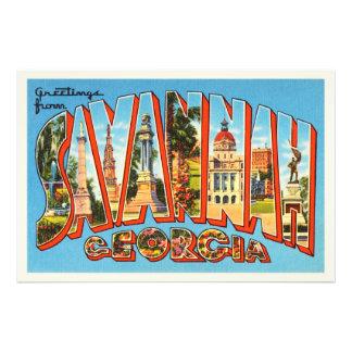 Savannah Georgia GA Old Vintage Travel Souvenir Photo