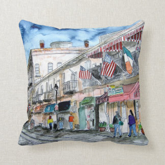 Savannah Georgia GA River street pillow