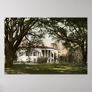 Savannah, Georgia Hermitage Plantation Poster