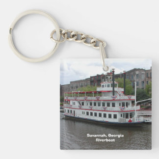 Savannah Georgia Riverboat Keychain