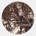 Savannah Georgia Round Sticker