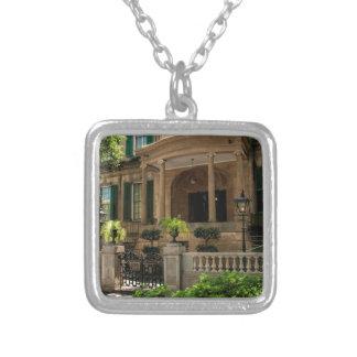 Savannah Georgia Victorian Historical House 2 Silver Plated Necklace