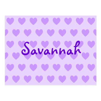 Savannah in Purple Postcard