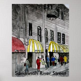 Savannah River Street 4 Posters