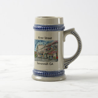 savannah river street beer stein mug georgia