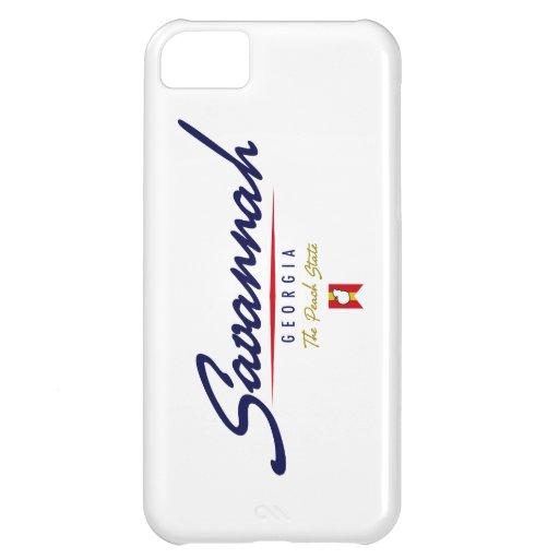 Savannah Script iPhone 5C Covers