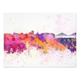 Savannah skyline in watercolor background photo