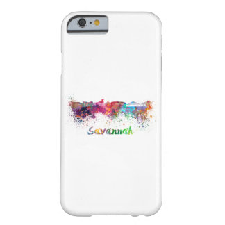 Savannah skyline in watercolor barely there iPhone 6 case