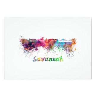 Savannah skyline in watercolor card