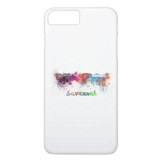 Savannah skyline in watercolor iPhone 8 plus/7 plus case