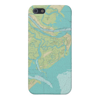 Savannah Tybee Island Nautical Chart Phone Case iPhone 5 Case