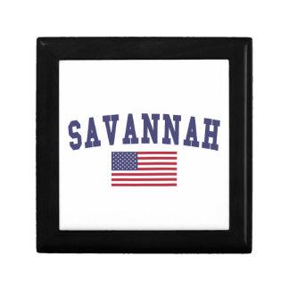 Savannah US Flag Trinket Boxes