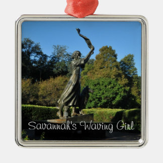 Savannah's Waving Girl Metal Ornament