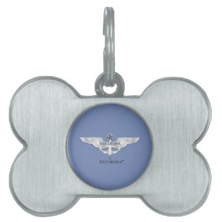 Savarona Logo Bone Pet Tag