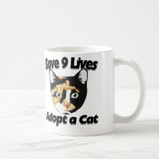 Save 9 lives adopt a CAT Coffee Mug