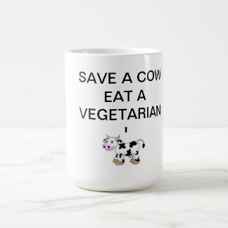 SAVE A COW EAT A VEGETARIAN MUG theholycowproject