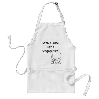 Save a cow, eat a vegetarian standard apron