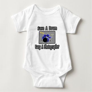 Save a Drum...Bang a Photographer Baby Bodysuit