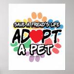 Save A Friend Adopt A Pet Poster