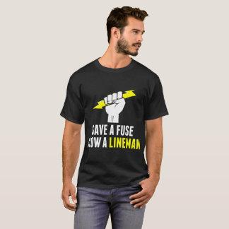 Save A Fuse Blow A Lineman Tshirt