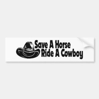 SAVE A HORSE bumper by nicola Bumper Sticker