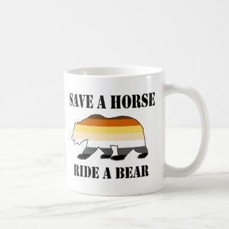 Save a Horse Ride a Bear Basic White Mug