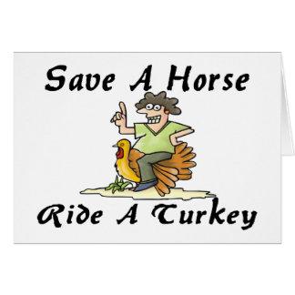 Save A Horse Ride A Turkey Card