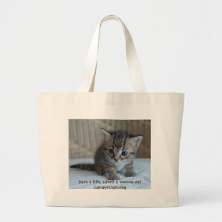 Save a life, adopt a rescue cat Bag