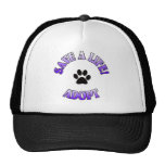 SAVE A LIFE, ADOPT!  DOG CAT RESCUE PET MESH HATS