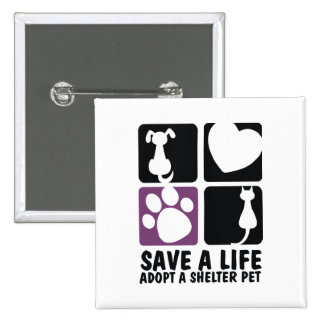 Save A Life 2 Inch Square Button