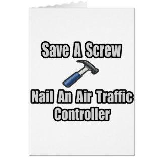 Save a Screw, Nail an Air Traffic Controller Card