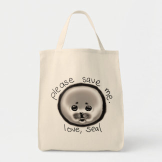 save a seal tote bag