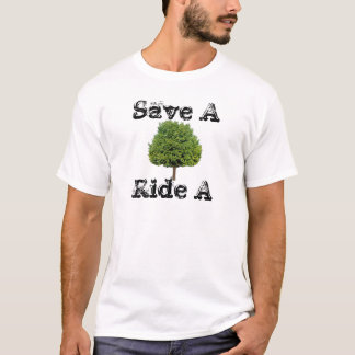 save a tree ride a scooter T-Shirt
