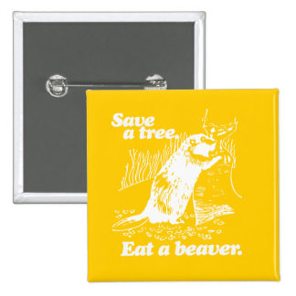 SAVE A TREE - WHITE -.png 2 Inch Square Button