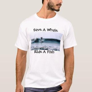Save A Whale, Ride A Fish T-Shirt